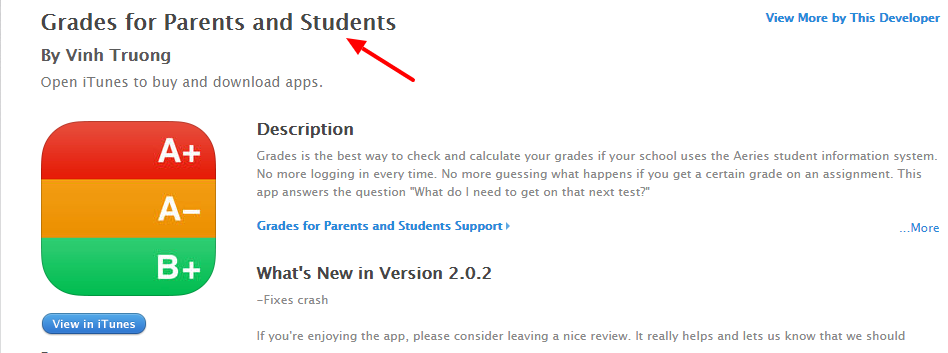 Grades for Parents and Students on the App Store